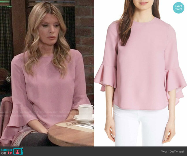 Ted Baker Juula Top worn by Nina Reeves (Michelle Stafford) on General Hospital