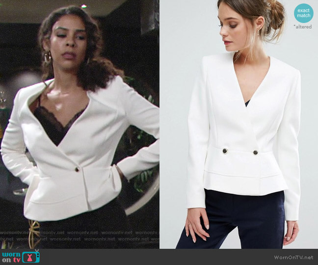 Ted Baker Silaa Jacket worn by Kerry Johnson (Alice Hunter) on The Young & the Restless