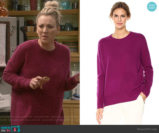 Theory Karenia R Cashmere Sweater worn by Penny Hofstadter (Kaley Cuoco) on The Big Bang Theory