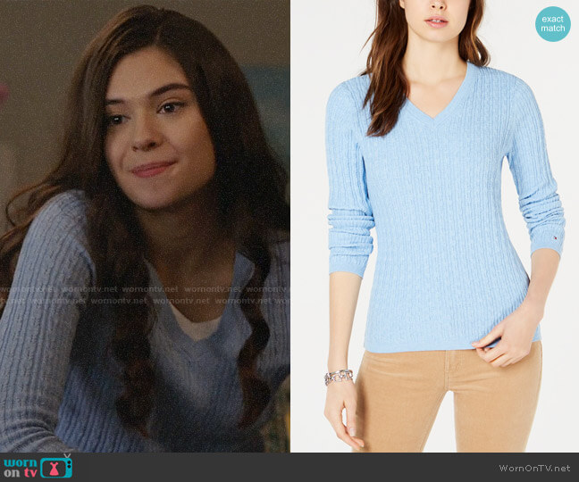 Tommy Hilfiger Cotton Cable-Knit Sweater worn by Nia Nal (Nicole Maines) on Supergirl