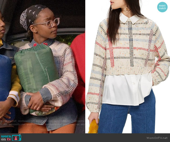Topshop Check Pattern Sweater worn by Diane Johnson (Marsai Martin) on Blackish