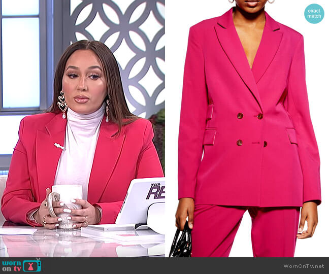 Double Breasted Jacket by Topshop worn by Adrienne Houghton  on The Real
