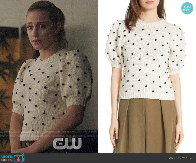 Ulla Johnson Bettine Sweater worn by Betty Cooper (Lili Reinhart) on Riverdale