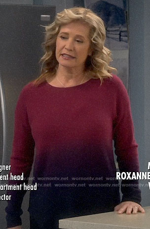Vanessa's pink ombre sweater on Last Man Standing