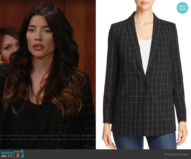 Vero Moda Windowpane-Check Blazer worn by Steffy Forrester (Jacqueline MacInnes Wood) on The Bold & the Beautiful