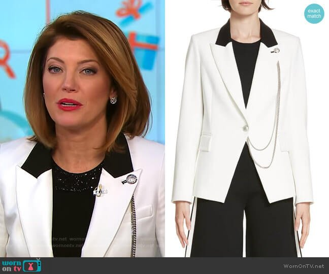 Fergus Dickey Jacket by Veronica Beard worn by Norah O'Donnell on CBS This Morning