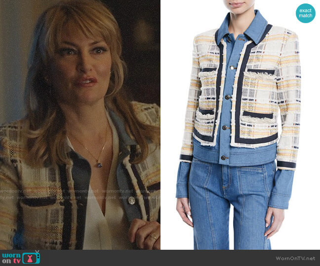 Veronica Beard Santiago Jacket worn by Alice Cooper (Mädchen Amick) on Riverdale