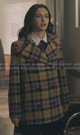 Veronica's plaid coat on Riverdale