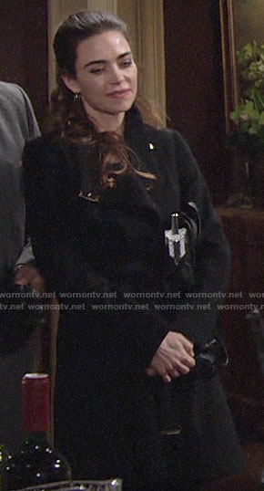 Victoria's black coat on The Young and the Restless