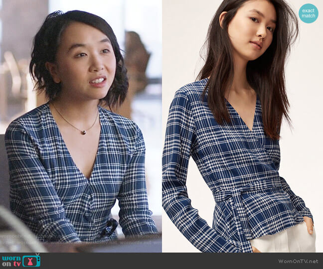 Aritzia Wilfred Shannon Blouse worn by Mackenzie on Supergirl