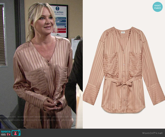 Aritzia Wilfred Zelie Shirt  worn by Sharon Collins (Sharon Case) on The Young & the Restless