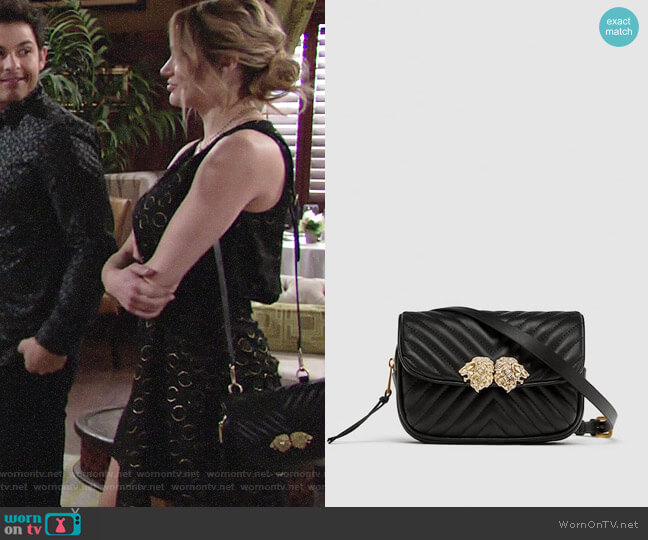 Zara Crossbody Belt Bag with Lion Details worn by Summer Newman (Hunter King) on The Young & the Restless