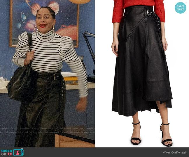 3.1 Phillip Lim Utility Leather Skirt worn by Rainbow Johnson (Tracee Ellis Ross) on Blackish