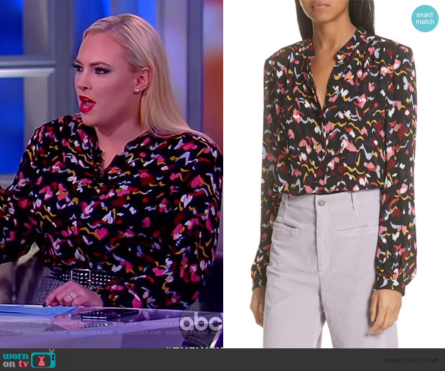 Owens Silk Floral Shirt by A.L.C. worn by Meghan McCain  on The View