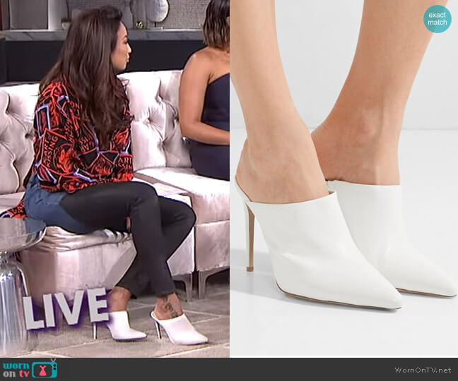 Amaliah Mules by Alexandre Birman worn by Jeannie Mai  on The Real