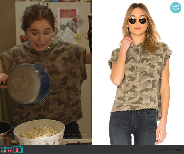 Hooded Pullover Top by ATM by Anthony Thomas Melillo worn by Debbie Gallagher (Emma Kenney) on Shameless