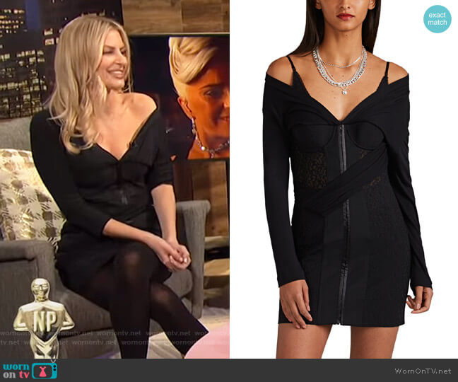 Lace & Jersey Corset Minidress by Alexander Wang worn by Morgan Stewart  on E! News