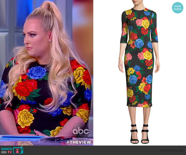 Delora Fitted Crew Neck Dress by Alice + Olivia worn by Meghan McCain  on The View
