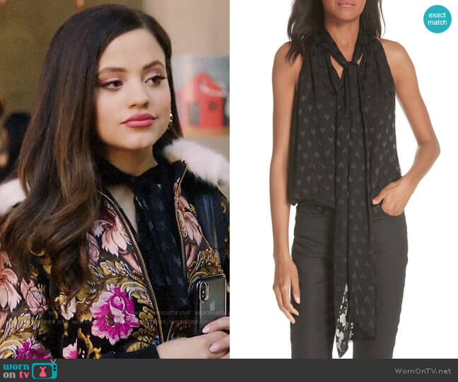 Alice + Olivia Delphine Top worn by Maggie Vera (Sarah Jeffery) on Charmed