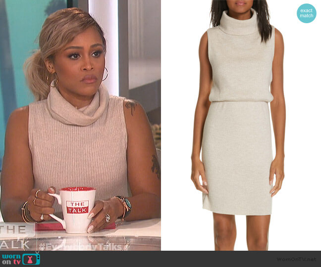 Hailee Blouson Sweater Dress by Alice + Olivia worn by Eve  on The Talk