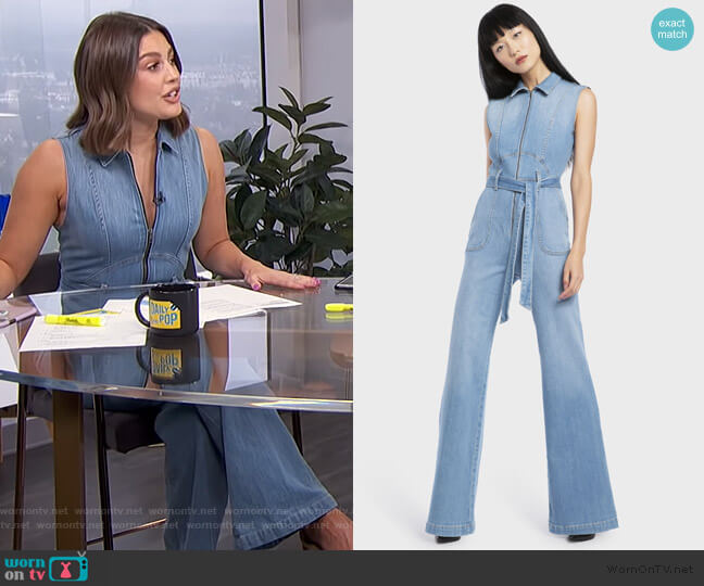 70's Jumpsuit by Alice + Olivia worn by Carissa Loethen Culiner  on E! News