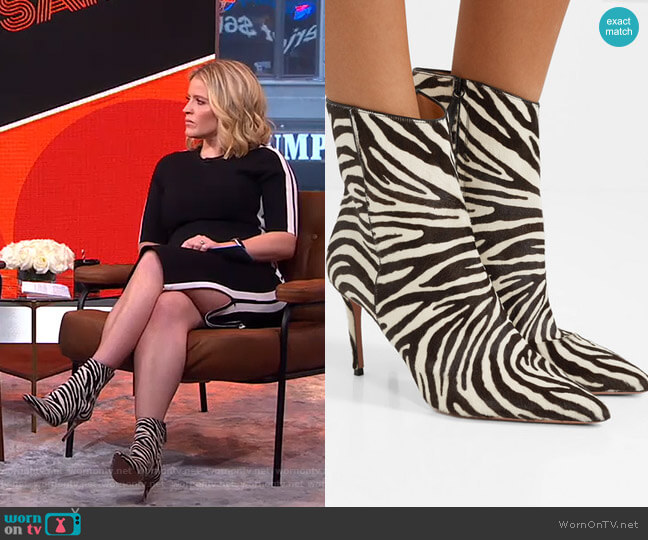 Alma Ankle Boots by Aquazzura worn by Sara Haines (Sara Haines) on Good Morning America