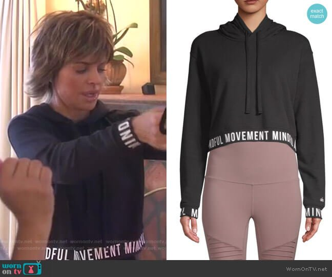 Sadhana Hoodie by Alo Yoga worn by Lisa Rinna  on The Real Housewives of Beverly Hills