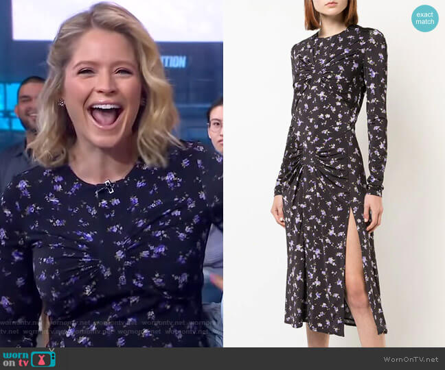 Maria Teresa Dress by Altuzarra worn by Sara Haines  on Good Morning America
