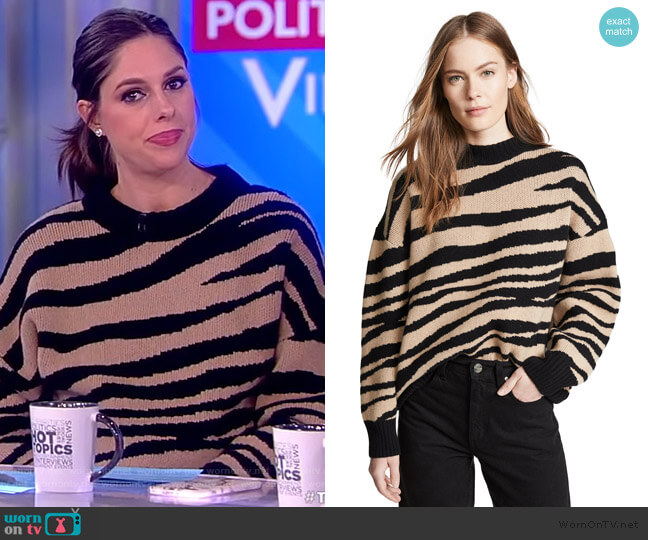Cheyenne Cashmere Sweater by Anine Bing worn by Abby Huntsman  on The View