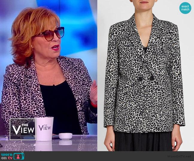 Madelaine Printed Blazer by Anine Bing worn by Joy Behar  on The View