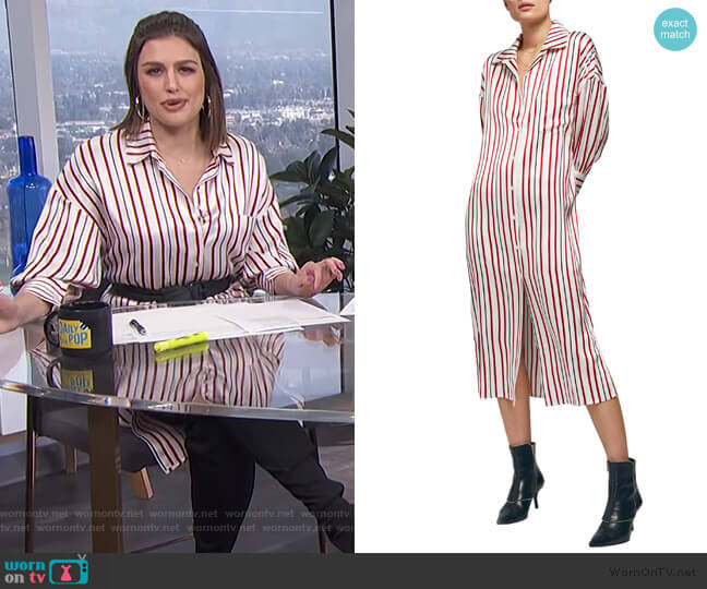 Milly Silk Shirtdress by Anine Bing worn by Carissa Loethen Culiner  on E! News