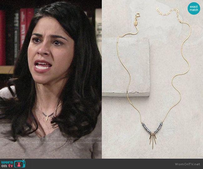 Anthropologie Zerene Necklace  worn by Mia Rosales (Noemi Gonzalez) on The Young & the Restless