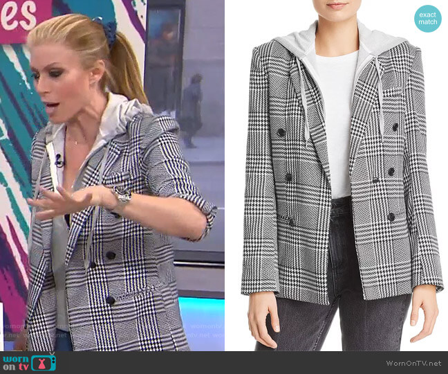Layered-Look Houndstooth Blazer by Aqua worn by Jill Martin  on Today