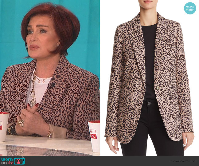 Leopard Print Blazer by Aqua worn by Sharon Osbourne  on The Talk