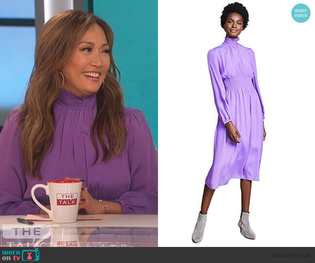 Agate Dress by Baum und Pferdgarten worn by Carrie Inaba (Carrie Inaba) on The Talk