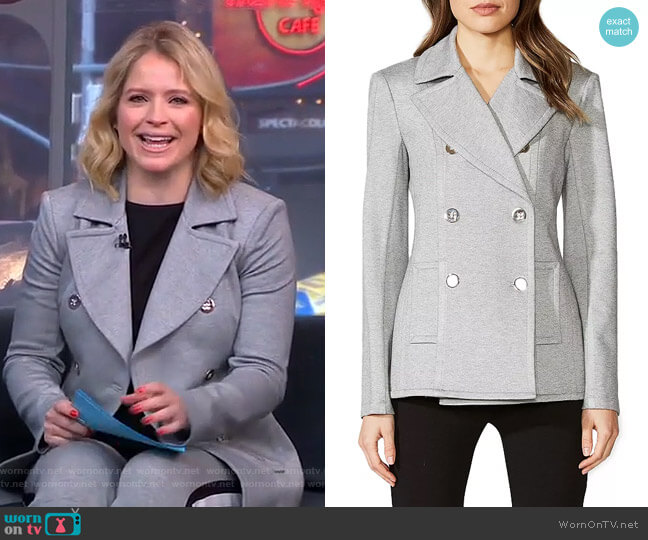 Windjammer Ponte Peacoat by Bailey 44 worn by Sara Haines  on Good Morning America