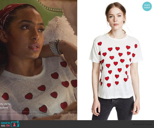 Hearts Tee by Banner Day worn by Zoey Johnson (Yara Shahidi) on Grown-ish