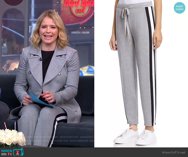 Porthole Fleece Pants by Bailey 44 worn by Sara Haines  on Good Morning America