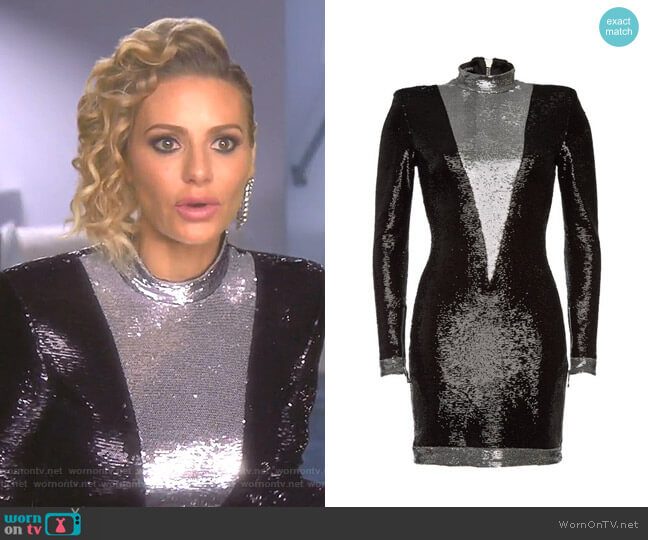 Sequin Mini Dress by Balmain worn by Dorit Kemsley  on The Real Housewives of Beverly Hills