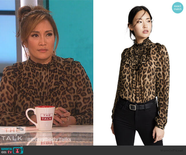 Frida Blouse by Ba&sh worn by Carrie Inaba  on The Talk