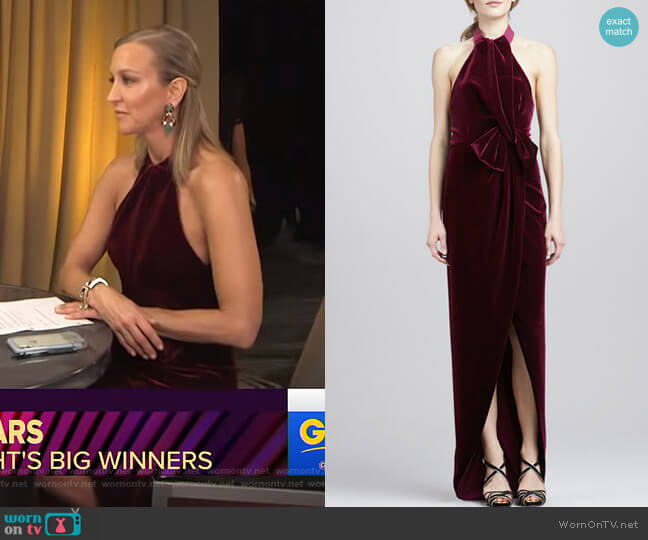 Admire Gown by Black Halo worn by Lara Spencer  on Good Morning America