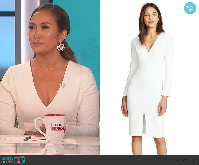 Sambora Sheath Dress by Black Halo worn by Carrie Inaba  on The Talk