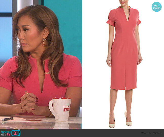 Sheath Dress by Black Halo worn by Carrie Inaba  on The Talk