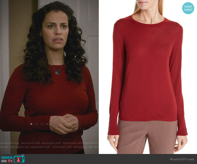 Frankie Sweater by Boss worn by Grace Stone (Athena Karkanis) on Manifest