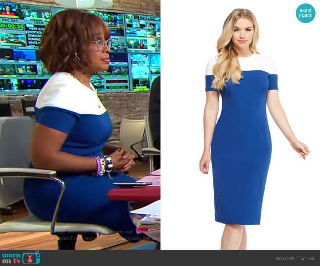 Carly Midi Dress by Maggy London worn by Gayle King  on CBS This Morning