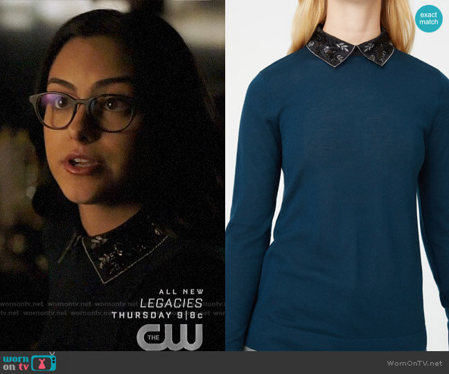 Club Monaco Onalee Sweater worn by Veronica Lodge (Camila Mendes) on Riverdale