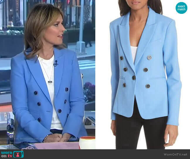Colson Blazer by Veronica Beard worn by Savannah Guthrie  on Today