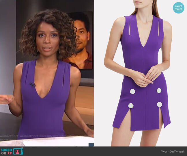 Embellished Mini Dress by David Koma worn by Zuri Hall  on E! News