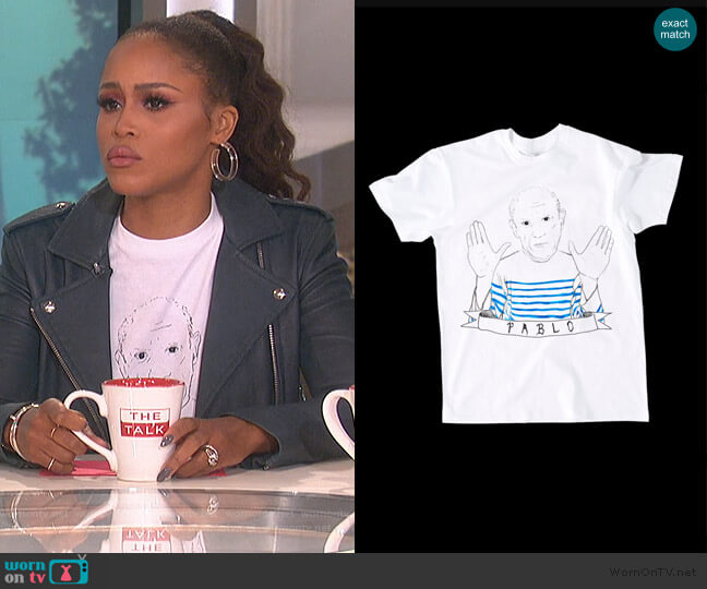 Pablo T-shirt by Dee Dana worn by Eve (Eve) on The Talk