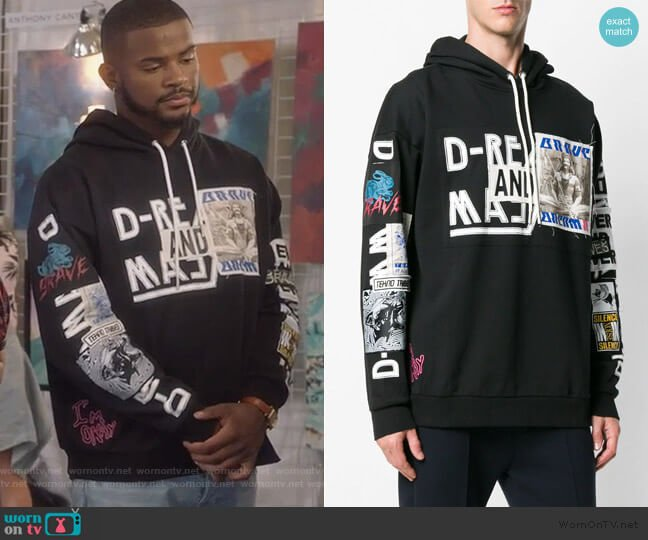 S-Jack-Wa hoodie by Diesel worn by Aaron Jackson (Trevor Jackson) on Grown-ish